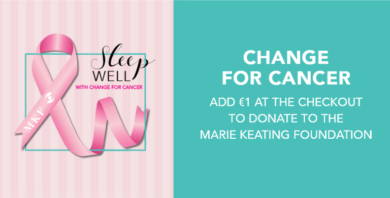 Sleep Pink supporting the Marie Keating Foundation. Donate 1 euro this October and we will match it.